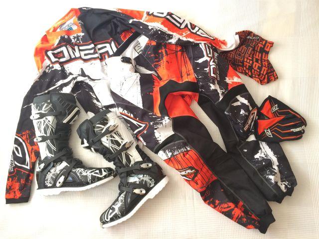 Equipacion de Cross MX Protecciones y ropa