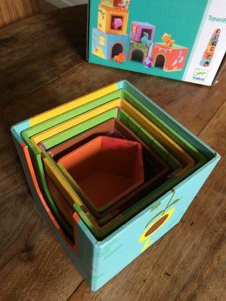 Cubos apilables - Topanifarm de Djeco