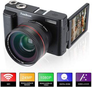 Camara Fotos Video Full HD 1080P WiFi 24MP FamBrow
