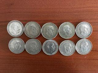 10 Monedas de 100 pesetas
