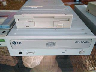 grabadoras cd/dvd, disquetera, lector de memorias.