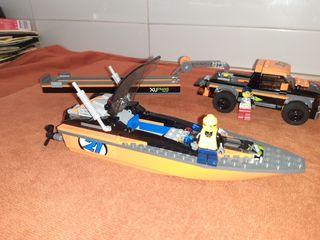 Lego Lancha, remolque y 4x4 de segunda mano por 20 </p>                 <!--bof Quantity Discounts table -->                                 <!--eof Quantity Discounts table -->                                 <!--bof Product URL -->                                 <!--eof Product URL -->             </div>             <div id=