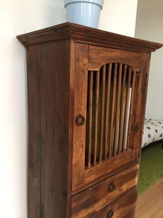 Mueble auxiliar cajonera armario madera maciza