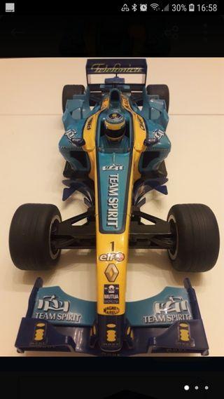 maqueta Renault Fórmula 1 Team Fernando Alonso