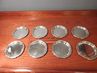 8 PLATOS DE PAN JOYERÍA MALDE - PLATA DE LEY ANTIG