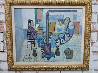 Óleo sobre lienzo (JORDI CURÓS) 1956.