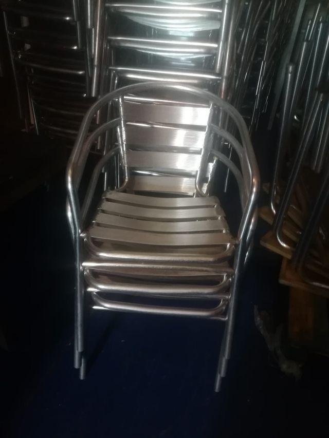 136 Sillas Aluminio Terraza Ocasión De Segunda Mano Por 1