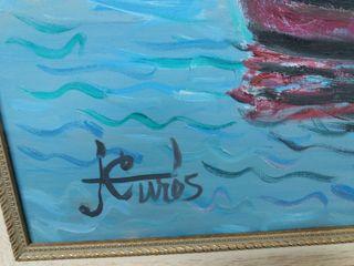 Óleo sobre lienzo pintor (JORDI CURÓS)