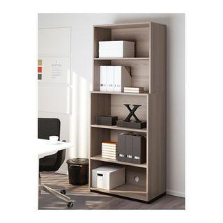 Estantería gran capacidad en nogal Ikea