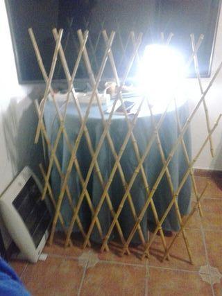 Dos vallas mimbre bambú extensibles 12€
