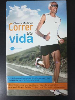 """Libro running """"Correr es vida"""" de Chema Martínez"""