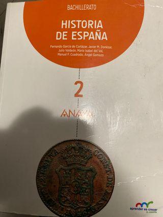 HISTORIA DE ESPAÑA 2do de Bachillerato
