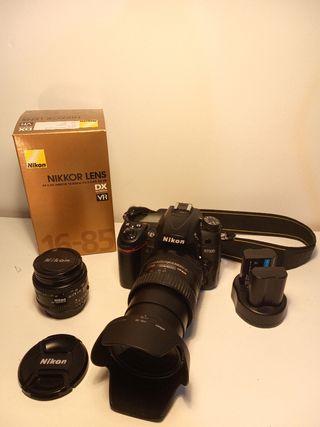 Nikon D7000 + 2 objetivos + extras