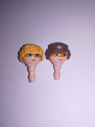 Playmobil lote 2 cabezas