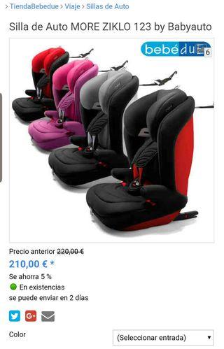 Silla bebé coche marca Bebédue SOLO HOY 31/12/2019 A 45€ (Más artículos niño y bebe en mi perfil