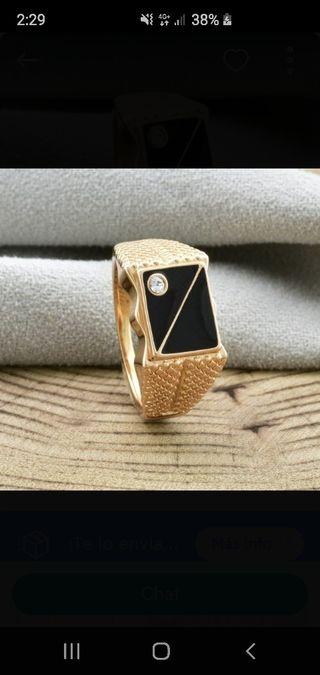 anillo chapado en oro de hombre nuevo