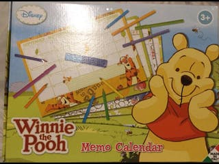 Disney Winnie the Pooh Memo Calendar 3+