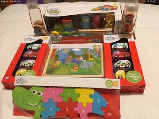 Bundle of Wooden Toys for Babies x 7