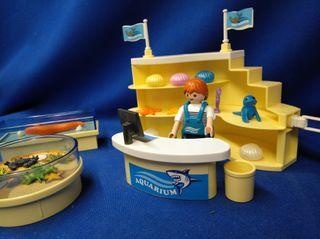 Playmobil Tienda Acuarium, diorama