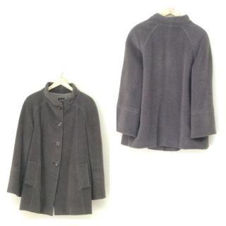 Abrigo lana gris mujer