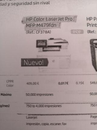 (NUEVA) Fotocopiadora Profesional Hp A4 Color
