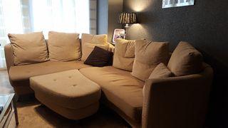 conjunto de sofá, mesa de comedor y 6 sillas