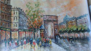 Pintura a oleo, Paris antiguo