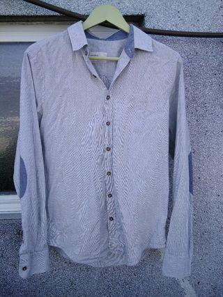 Camisa blanca con coderas M