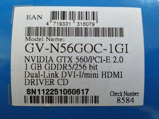 Tarjeta Gráfica Gigabyte GeForce GTX560 Windforce