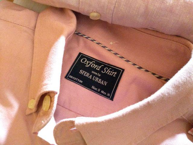 Camisa rosada algodón Oxford