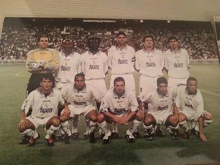 5 Fotos y 1 Postal de la Plantilla del Real Madrid