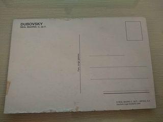 Postal de Dubovsky Real Madrid CF
