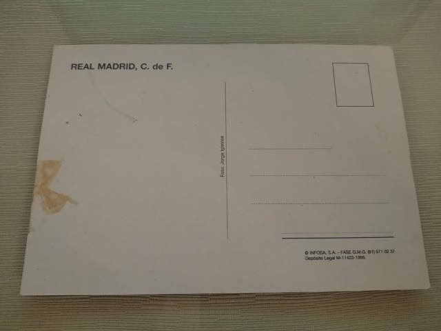Postal y Foto de Amavisca Real Madrid CF