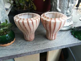 2 tulipas, pantallas lampara