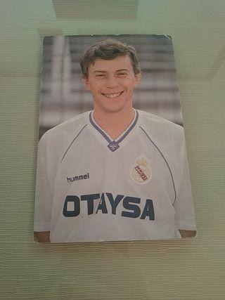 Postal Emilio Butragueño Real Madrid CF
