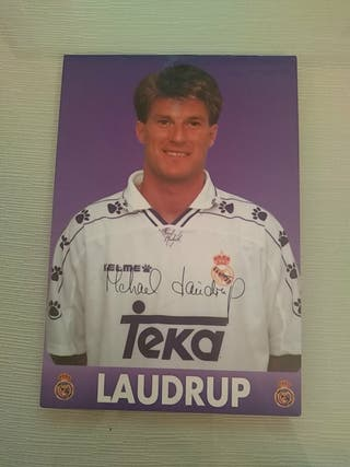 Postal Laudrup Real Madrid CF