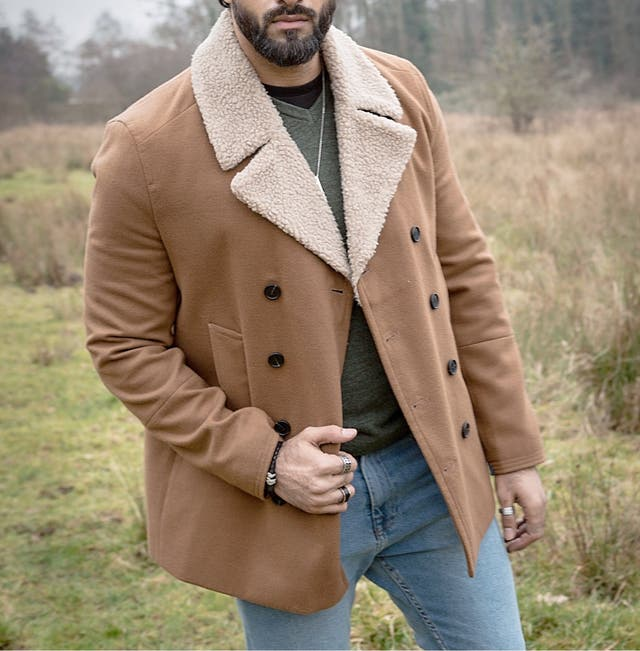 New look Men brown coat -Large