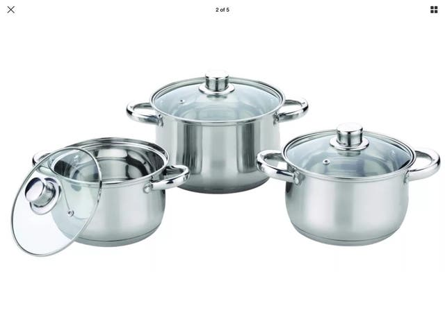 Royal Cuisine 3 Piece Stainless Steel Stock pot