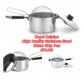 Royal Cuisine Stainless Steel Chip Pan Set