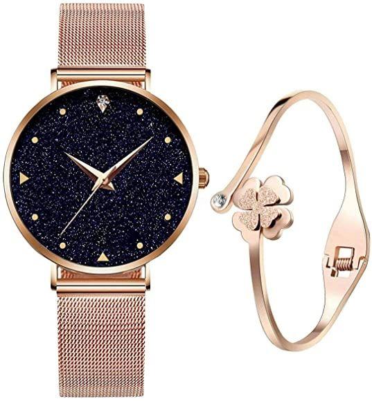Reloj Oro Rosa + Pulsera