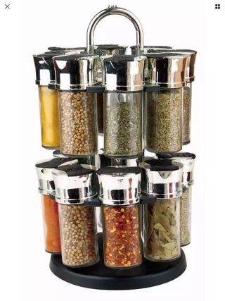 Royal Cuisine Spice Rack & Glass Jar