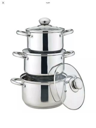 3pc Royal Cuisine SS Stock Pot Set