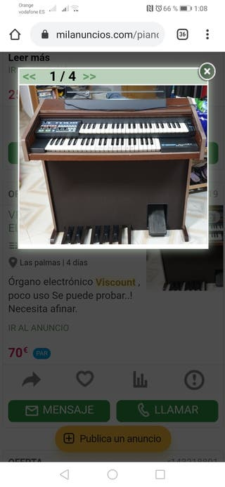 VENDO ÓRGANO ELECTRÓNICO..VISCOUNT