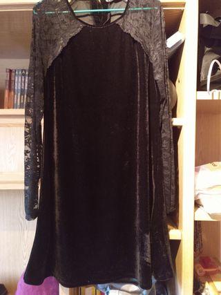 vestido de fiesta de terciopelo