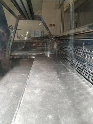 Mostrador frigorífico aluminio