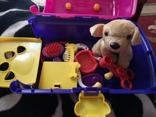 maletin veterinario y su mascota