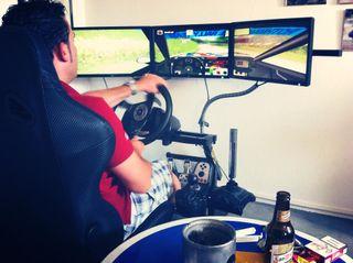 Cockpit simulador de conducción coche