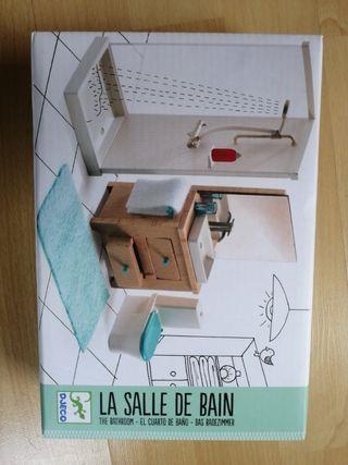 Muebles baño casa de muñecas Djeco NUEVO.