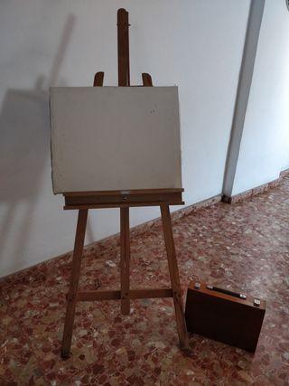 Caballete de pintura con maletín