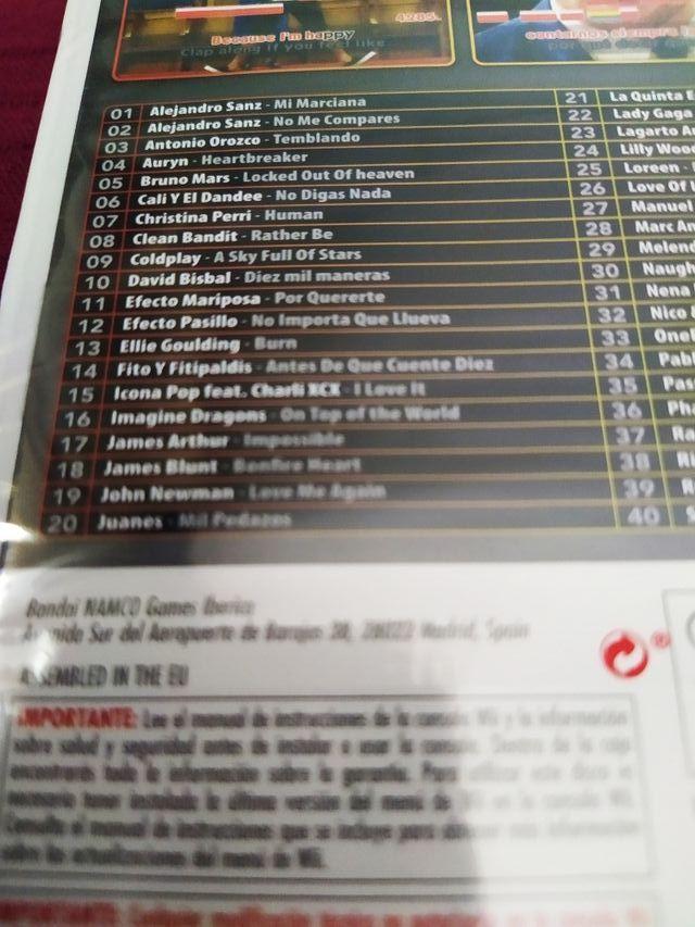 juego 40 principales karaoke wii precintado